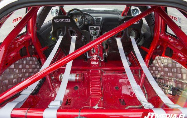 Toyota celica ST185 racing car interior